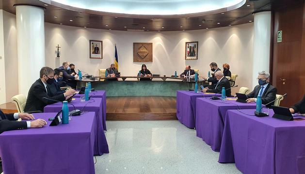 La sessió de consell de comú que va tenir lloc ahir.