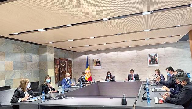 Sessió del consell de comú d'Ordino.