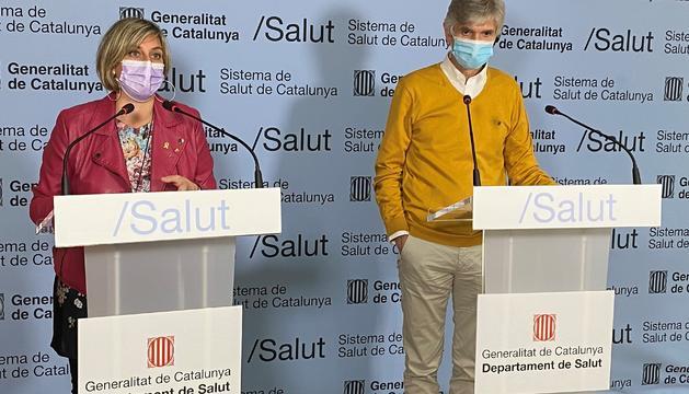 La consellera de Salut catalana, Alba Vergés i el secretari de Salut Pública, Josep Maria Argimon