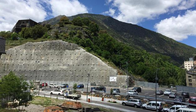 L'aparcament del Falgueró, a l'hospital.