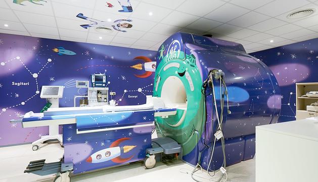 Una sala de TAC de l'hospital Sant Joan de Déu.