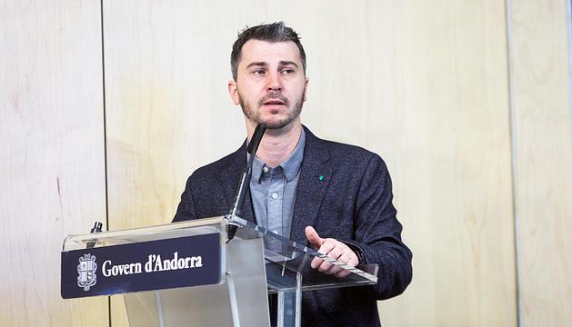 Pons, director eventual de l'Institut d'Estudis Andorrans.