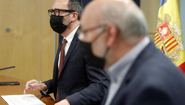 Filloy i Villaverde durant la roda de premsa que s'ha celebrat aquest matí.