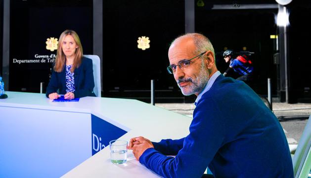 L'excap de Govern Toni Martí, durant l'entrevista.