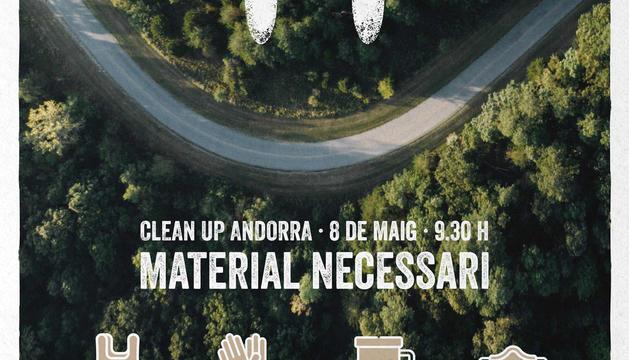 Cartell promocional de 'Clean Up Andorra'.