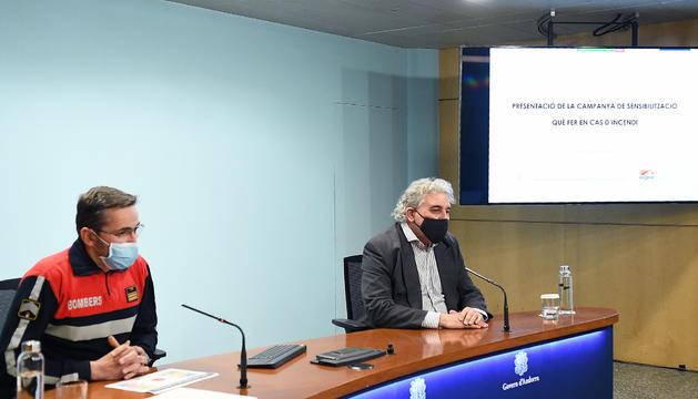 Jordi Farré i Jordi Galobardas, en la presentació de la campanya.