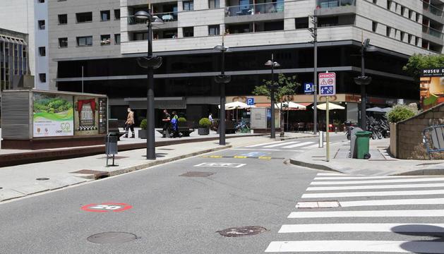 Un tram de l'avinguda Verge de Canòlich.