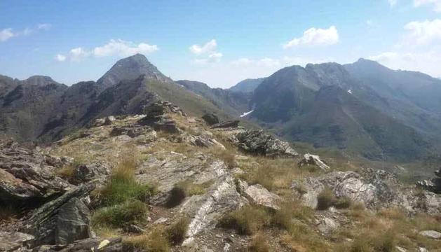 Punt del pic de Peyreguils on s'ubicarà el mirador.