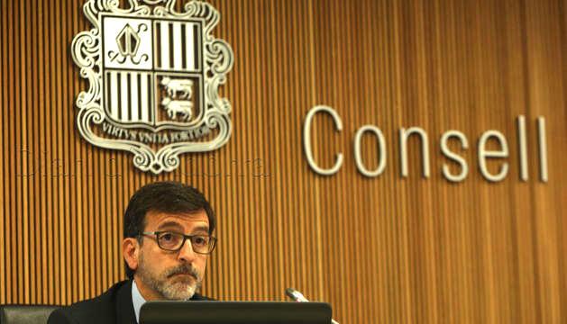 Jordi Cinca, en la compareixença d'avui al Consell General.