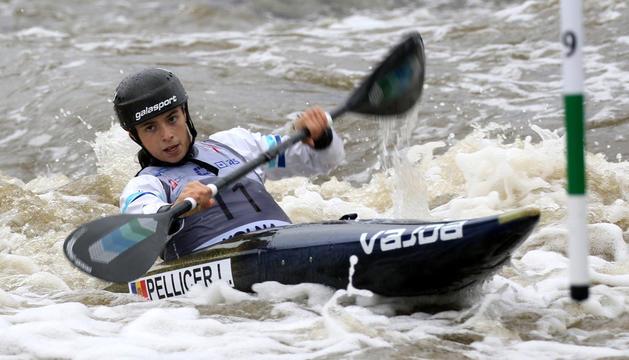 Laura Pellicer, durant una competició anterior.