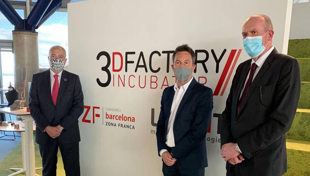 Pere López i Joaquim Miró a la zona franca