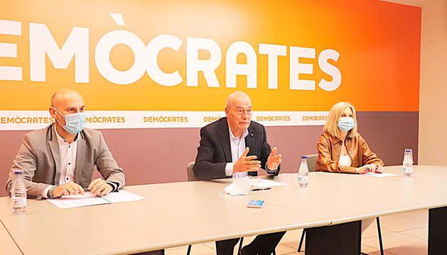Els tres consellers de DA d'Escaldes-Engordany.