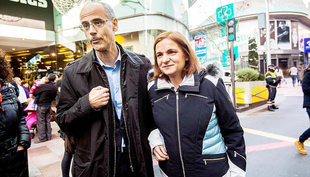 Martí i Marín, junts durant una campanya electoral.