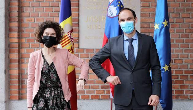 Visita a Eslovènia de la ministra d'Afers Exteriors i del secretari d'Estat d'Afers Europeus