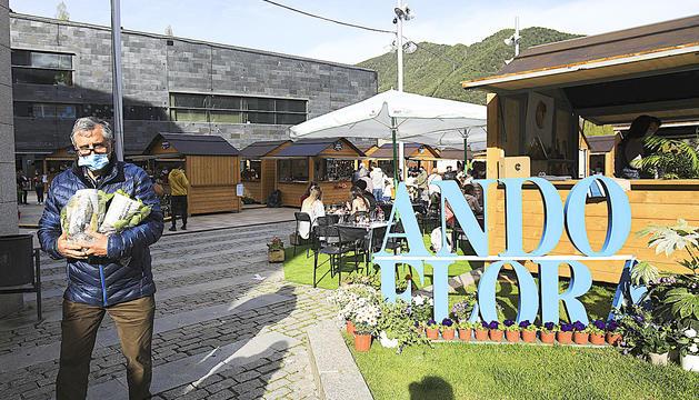 La plaça de les Fontetes de la Massana, escenari d'Andoflora