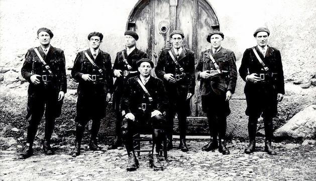 La primera promoció de policies, del 1931.