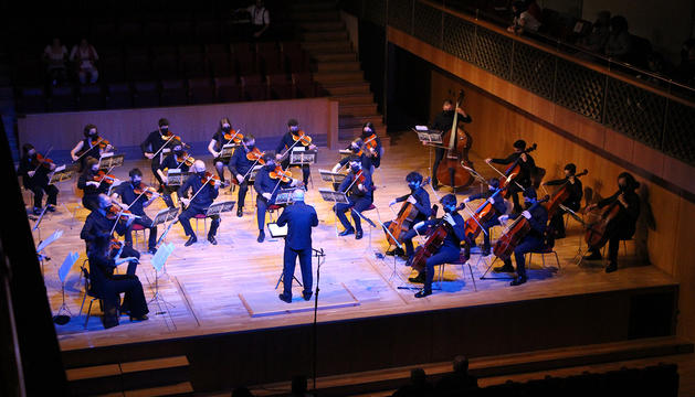 Un moment del Concert de Primavera celebrat aquest diumenge a l'Auditori Nacional.