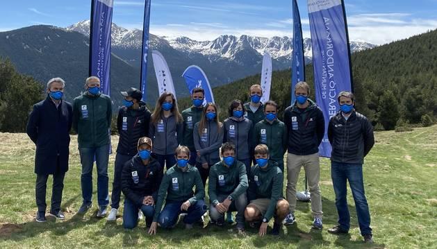 L'equip nacional de curses de muntanya.