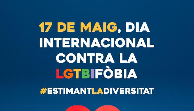 El cartell pel Dia Internacional contra la LGTBIfòbia.