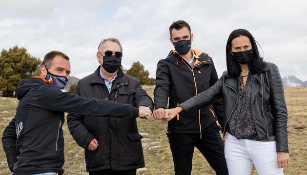 Marticella, Forné i Molné, a la presentació del Parc Solar