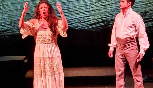 Un instant de la representació de la sarsuela 'Cecilia Valdés'.