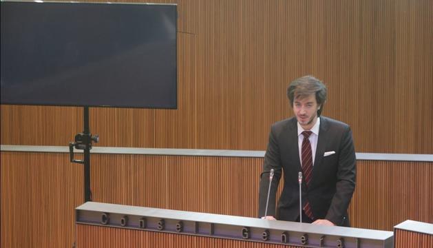 Carles Enseñat en la sessió de Consell aquesta tarda