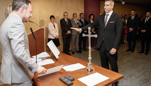 Cèsar Marquina va jurar com a secretari d'Estat el 4 de setembre del 2019
