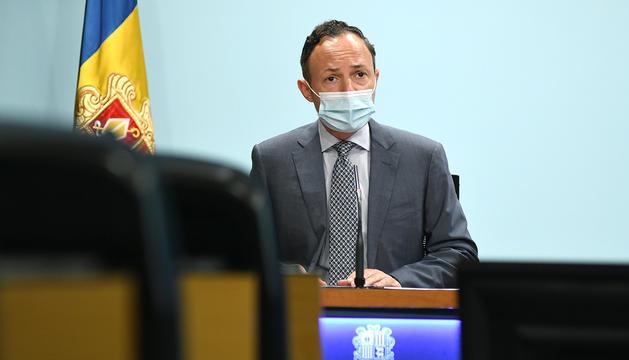 El cap de Govern, Xavier Espot, en roda de premsa.