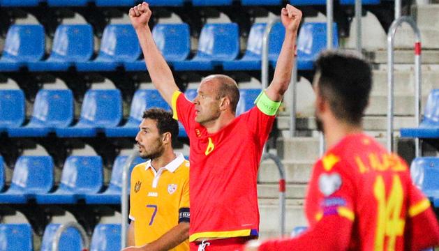 Ildefons Lima, en un partit amb la selecció al Nacional.