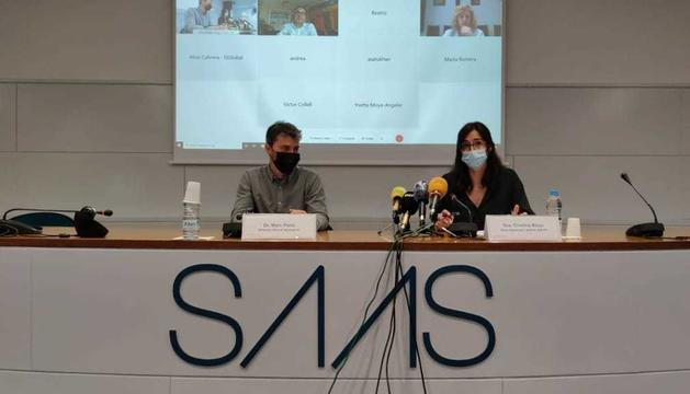 Marc Pons i Cristina Royo, en la presentació dels resultats de l'estudi.