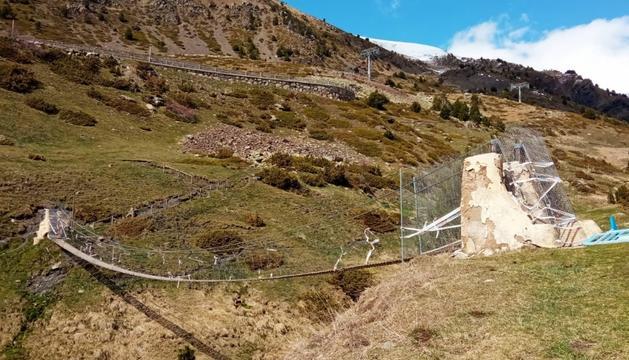 El pont tibetà dels Cortals.