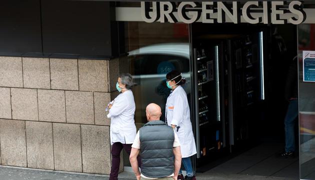 L'entrada al servei d'Urgències de l'hospital.