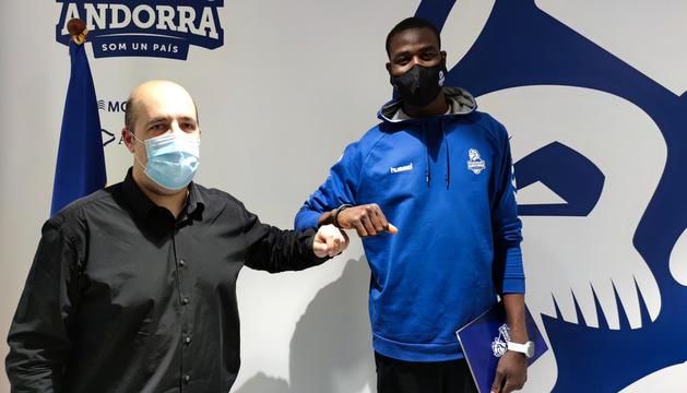 Gorka Aixàs i Moussa Diagne.