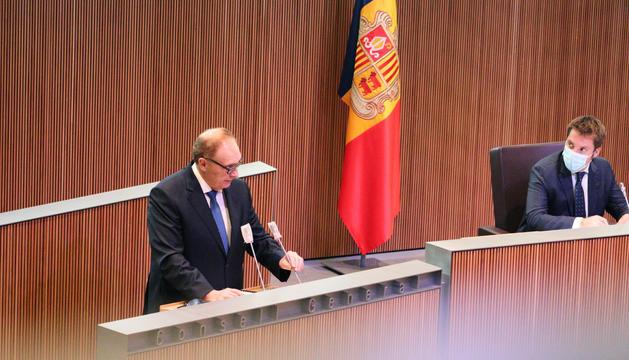 El president del grup parlamentari, Josep Pintat, aquest matí