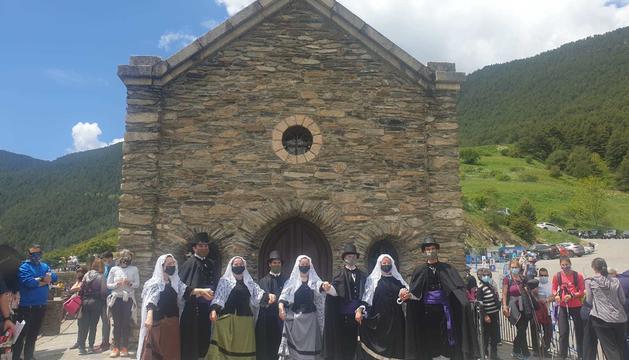 La celebració al Santuari de Canòlich.