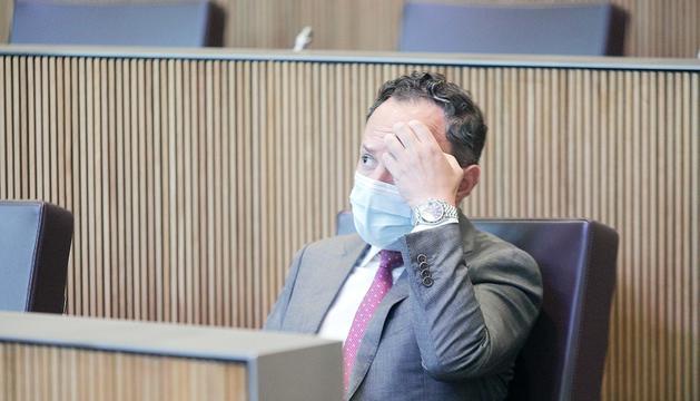 El cap de Govern, Xavier Espot, a l'hemicicle.