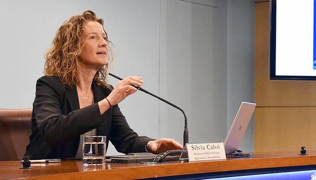 La ministra de Medi Ambient, Sílvia Calvó.