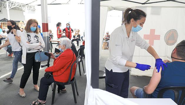 Vacunació a la plaça de braus d'Andorra la Vella.
