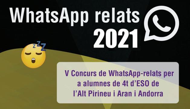 Cartell del V Concurs WhatsApp Relats