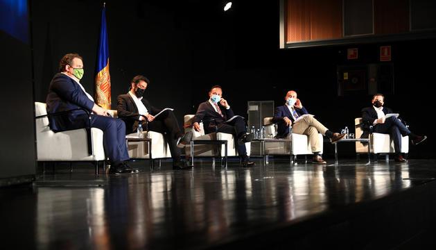 D'esquerra a dreta, Albert Grifols, Josep Àngel Mortés, Xavier Espot, Joan Martínez Benazet i Daniel Fleta.