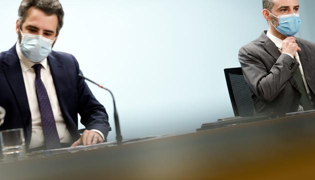Eric Jover i Marc Ballestà han presentat l'informe de l'FMI