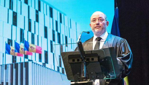 El fiscal general, Alfons Alberca, en un discurs.