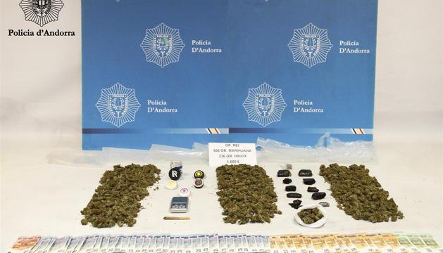 Detingut un traficant de 22 anys amb 508 grams de marihuana a la Massana
