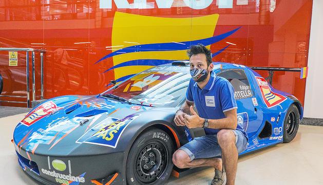 Edgar Montellà, amb el nou Silver Car.