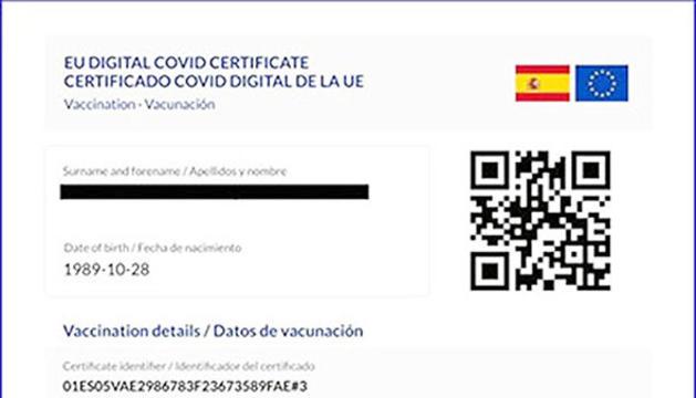 Model de certificat Covid.
