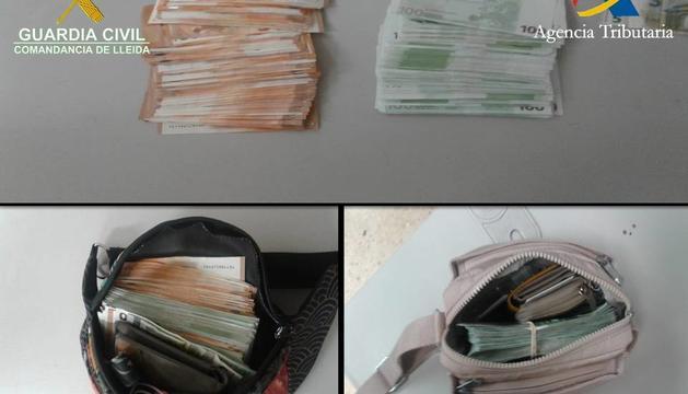 Els agents del cos espanyol va confiscar els diners al recinte de la Farga de Moles
