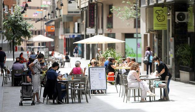 Algunes de les terrasses del carrer Callaueta.