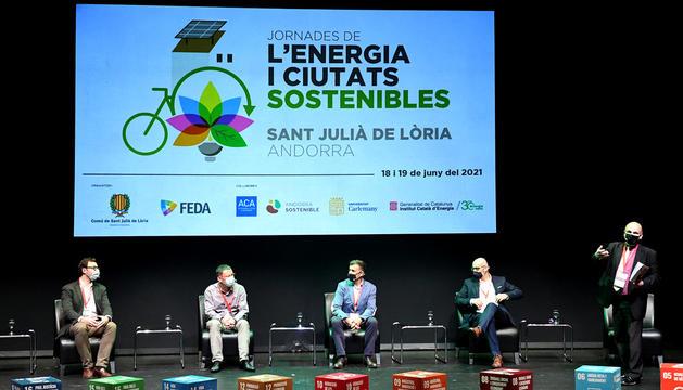 La inauguració ahir de les Jornades d'energia i ciutats sostenibles.
