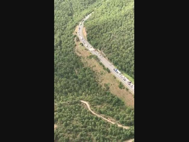 Imatges de l'accident a la C-14 a Bassella
