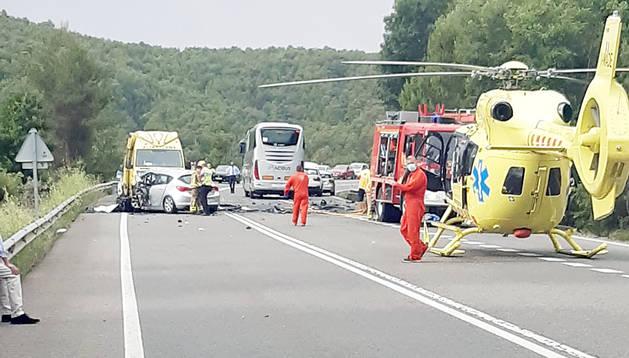L'accident que va tenir lloc ahir a la C-14, a l'altura de Bassella.